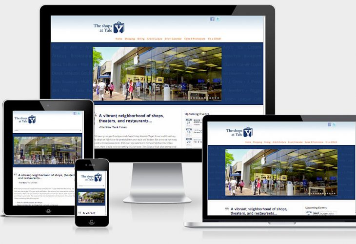Responsive Web Design for The Shops at Yale