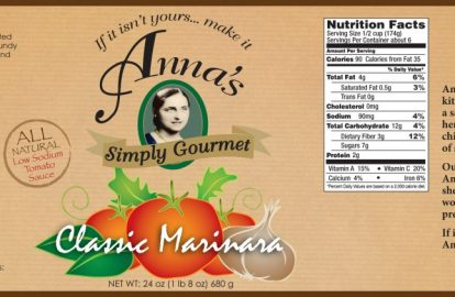 Food Product Label Design