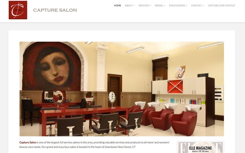 Hair Salon Web Design