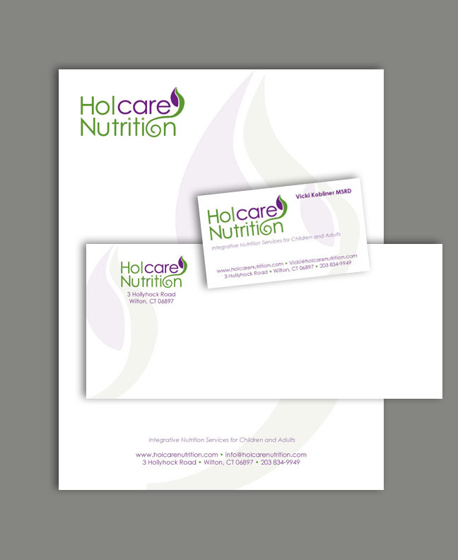 nutrition logo and stationery fusion printing web design ct