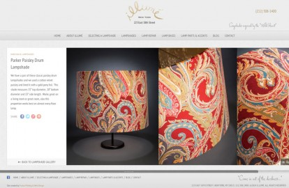 Chic web design for a chic NYC b...